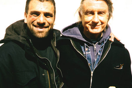 Ammar Daraiseh and director Joel Schumacher on the set of