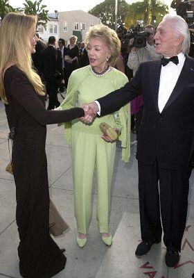 Kirk Douglas, Bo Derek, and Anne Douglas