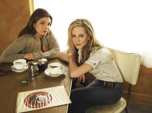 Holly Hunter and Laura San Giacomo in Saving Grace (2007)