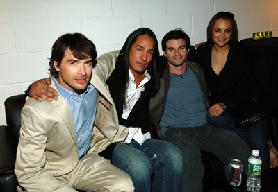 Rachael Leigh Cook, Daniel Gillies, Matthew Settle, and Michael Spears at Into the West (2005)
