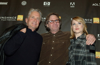 Michael Douglas, Mike Cahill, and Evan Rachel Wood at King of California (2007)
