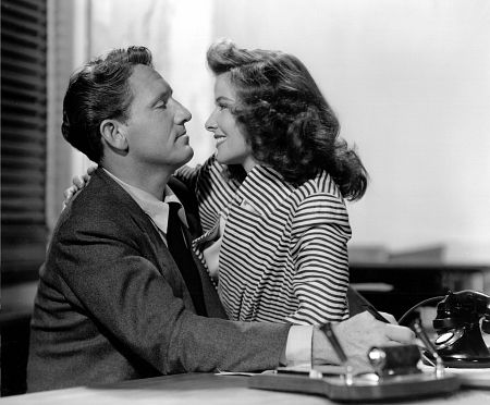 Spencer Tracy, Katharine Hepburn Film Set Woman Of The Year (1942) 0035567
