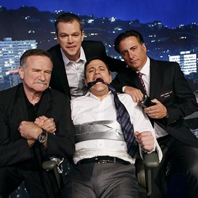 Robin Williams, Matt Damon, Andy Garcia, and Jimmy Kimmel in Jimmy Kimmel Live! (2003)