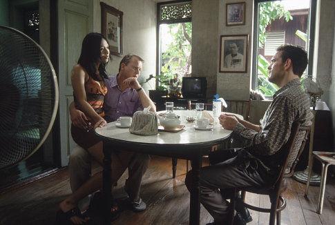 Matt Dillon and Stellan Skarsgård in City of Ghosts (2002)