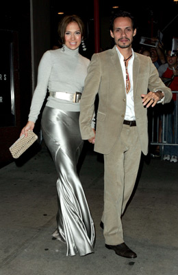 Jennifer Lopez and Marc Anthony at an event for An Unfinished Life (2005)