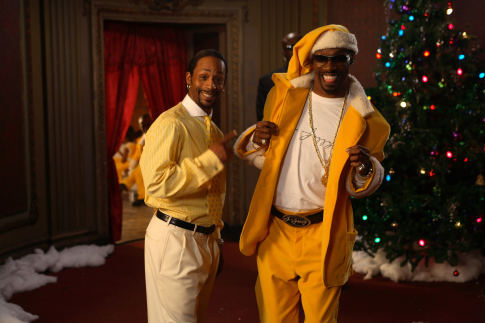 Morris Chestnut and Katt Williams in The Perfect Holiday (2007)