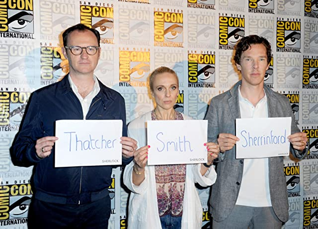 Amanda Abbington, Mark Gatiss, and Benedict Cumberbatch at an event for Sherlock (2010)