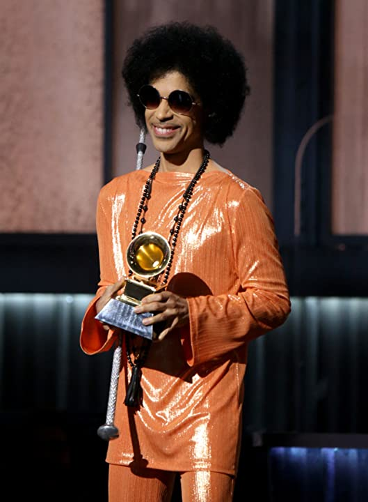 Prince at an event for The 57th Annual Grammy Awards (2015)
