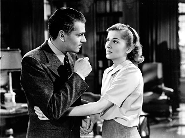 Joan Fontaine and Laurence Olivier in Rebecca (1940)