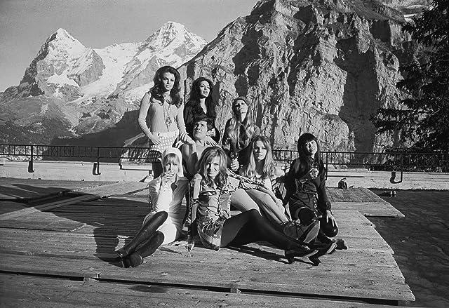 Mona Chong, Julie Ege, Anouska Hempel, George Lazenby, Joanna Lumley, and Helena Ronee in On Her Majesty's Secret Service (1969)