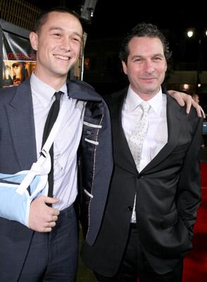 Scott Frank and Joseph Gordon-Levitt at The Lookout (2007)