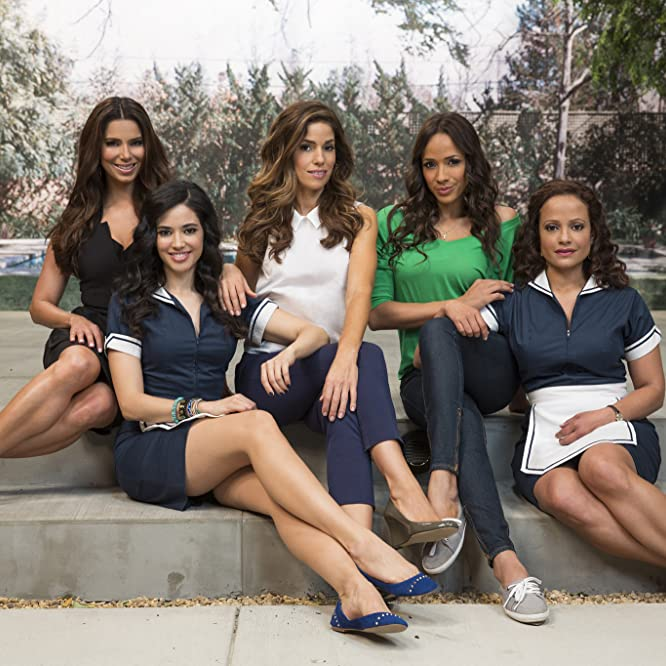 Ana Ortiz, Judy Reyes, Roselyn Sanchez, Dania Ramirez, and Edy Ganem in Devious Maids (2013)