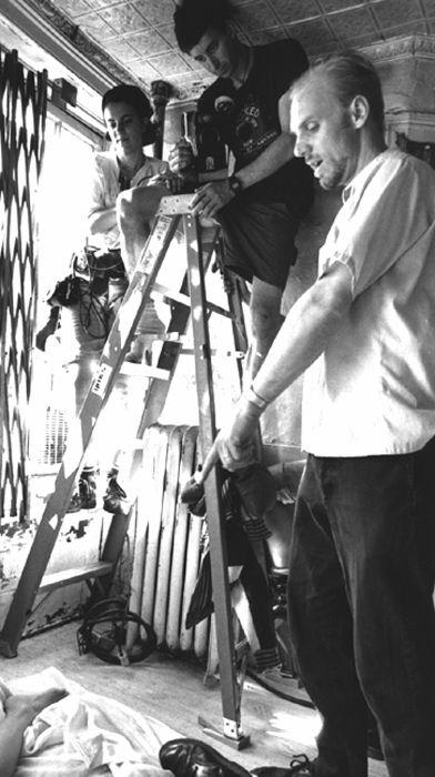 Director Matthew Harrison and cinematographer Howard Krupa on the set of Matthew Harrison's RHYTHM THIEF