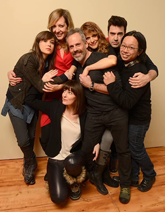 Allison Janney, Ron Livingston, Josh Pais, Ellen Page, Lynn Shelton, and Tomo Nakayama at Touchy Feely (2013)