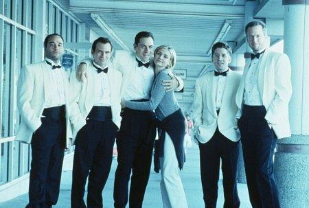 Cameron Diaz, Christian Slater, Jeremy Piven, Jon Favreau, Leland Orser, and Daniel Stern in Very Bad Things (1998)