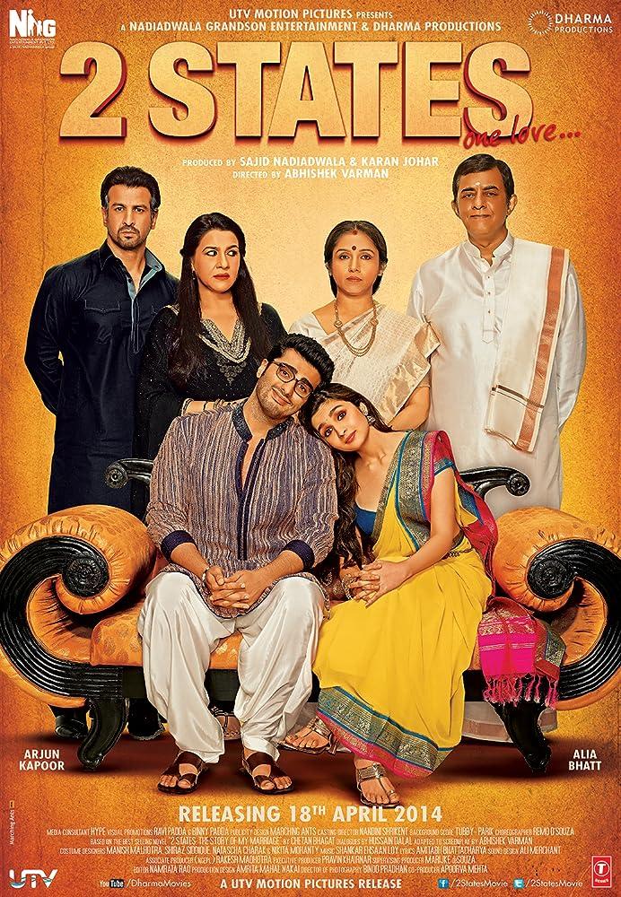 2 States 2014 Hindi 720p BluRay 300MB Movies