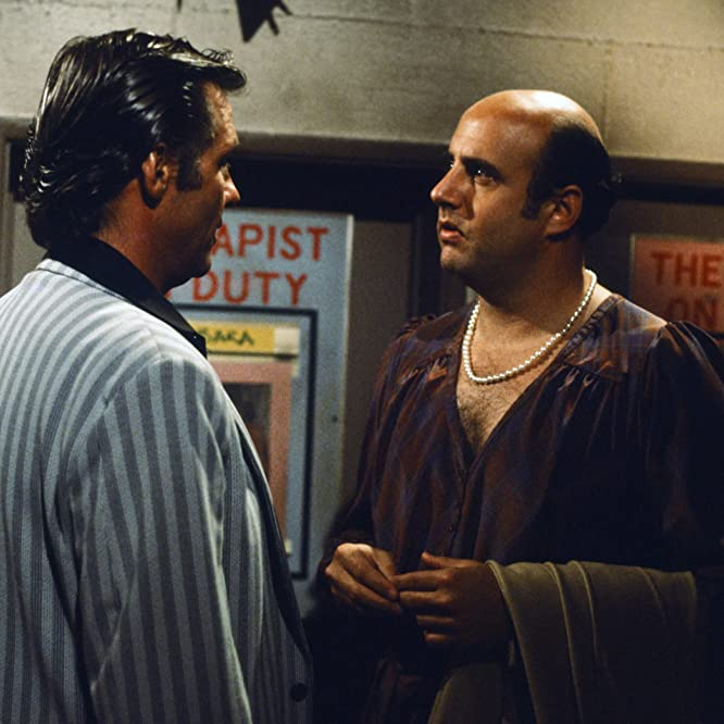 Jeffrey Tambor and Kiel Martin in Hill Street Blues (1981)