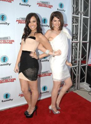 Selena Gomez and Demi Lovato at Princess Protection Program (2009)