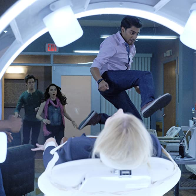 Allison Scagliotti, Ritesh Rajan, Kyle Harris, and Emma Ishta in Stitchers (2015)