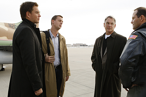Mark Harmon, Sean Murray, and Michael Weatherly in NCIS (2003)