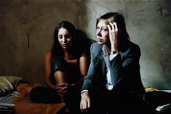 Anna-Marie and Jenny Agutter on the set of Number One Longing, Number Two Regret.