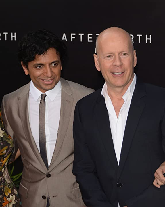 Bruce Willis and M. Night Shyamalan at After Earth (2013)