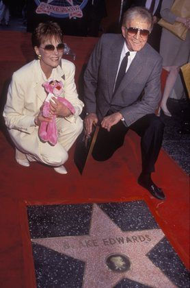 Blake Edwards and Julie Andrews at Hollywood Walk of Fame Ceremony 04-03-1991