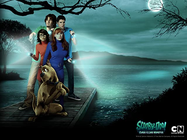Robbie Amell, Kate Melton, Nick Palatas, and Hayley Kiyoko in Scooby-Doo! Curse of the Lake Monster (2010)