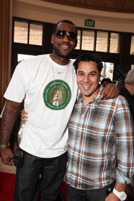LeBron James and Kristopher Belman at an event for More Than a Game (2008)