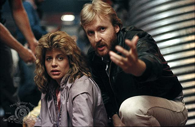 James Cameron and Linda Hamilton in The Terminator (1984)