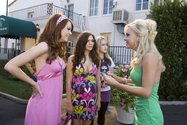 Anna Faris, Kat Dennings, Emma Stone, and Katharine McPhee in The House Bunny (2008)