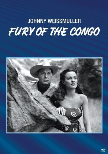 Sherry Moreland and Johnny Weissmuller in Fury of the Congo (1951)