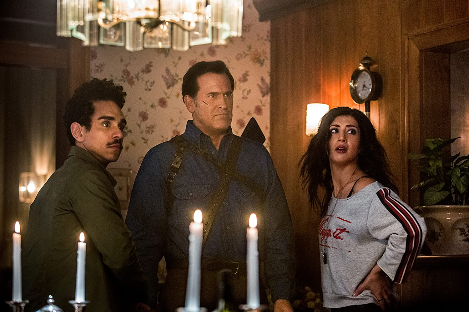 Bruce Campbell, Ray Santiago, and Dana DeLorenzo in Ash vs Evil Dead (2015)