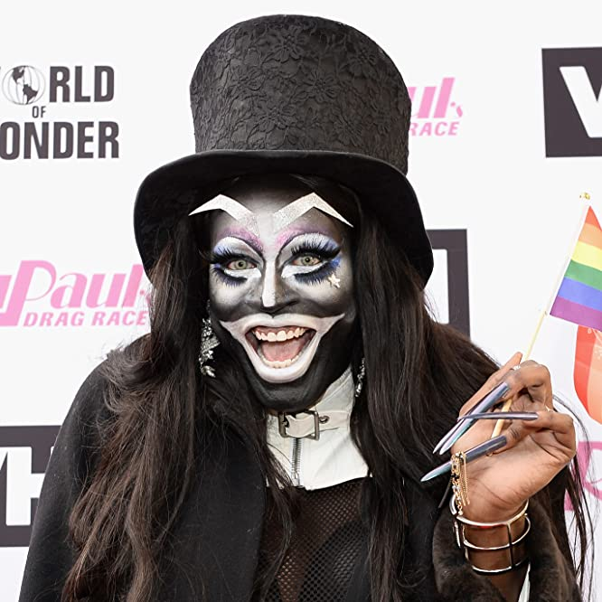 GLENDALE, CA - JUNE 09: Miles Jai dressed as The Babadook arrives at 'RuPaul's Drag Race' Season 9 Finale Taping at Alex Theatre on June 9, 2017 in Glendale, California. (Photo by Tara Ziemba/Getty Images)