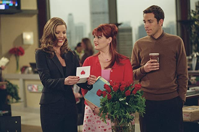Andrea Parker, Sara Rue, and Zachary Levi in Less Than Perfect (2002)