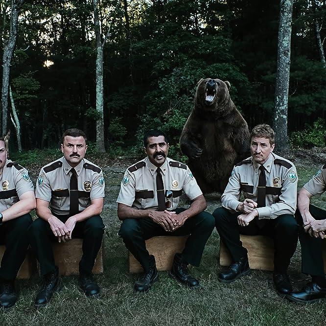 Jay Chandrasekhar, Kevin Heffernan, Steve Lemme, Paul Soter, and Erik Stolhanske in Super Troopers 2 (2018)