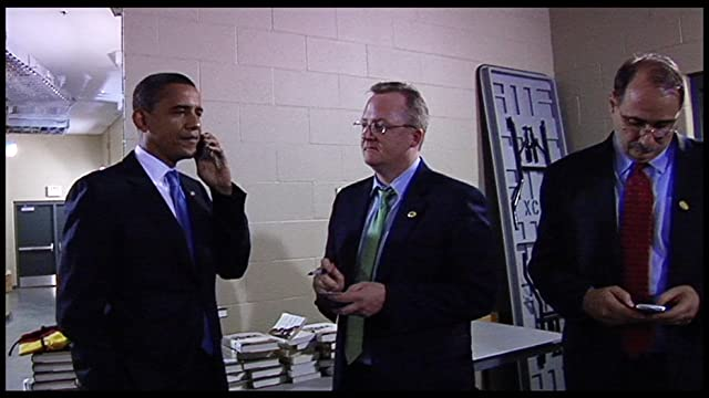 Barack Obama, David Axelrod, and Robert Gibbs in By the People: The Election of Barack Obama (2009)