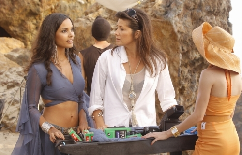Daphne Zuniga, Jessica Lucas, and Katie Cassidy in Melrose Place (2009)