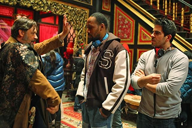 Russell Crowe, Eli Roth, and RZA in The Man with the Iron Fists (2012)