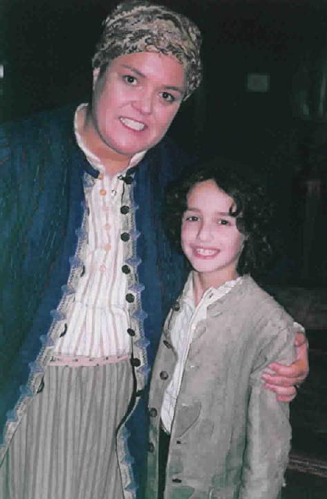 """Michael and Rosie O'Donnell back stage at Broadway's """"Fiddler On The Roof"""""""