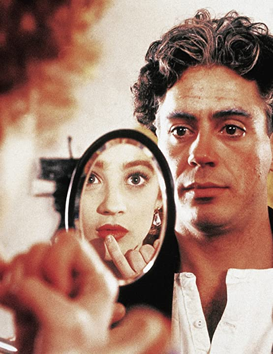 Robert Downey Jr. and Moira Kelly in Chaplin (1992)