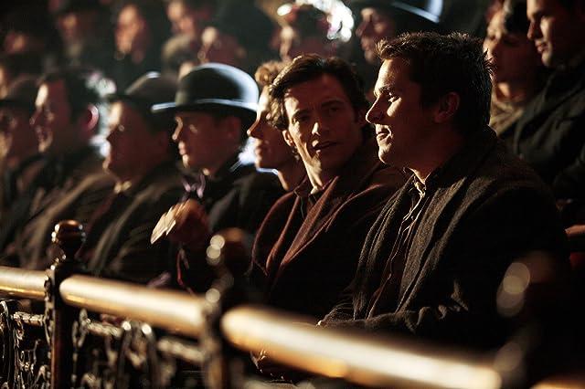 Christian Bale, Hugh Jackman, and Aaron Jay Rome in The Prestige (2006)