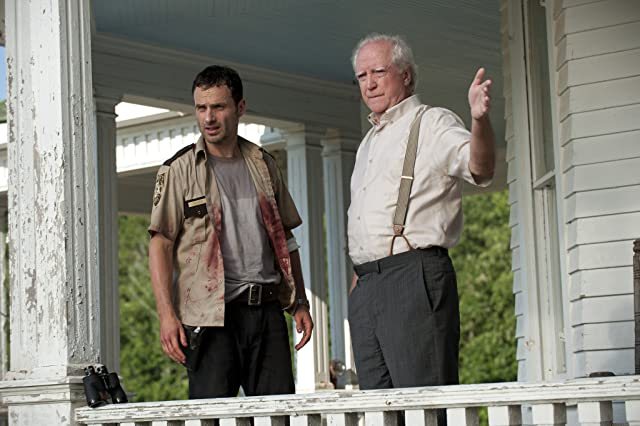 Andrew Lincoln and Scott Wilson in The Walking Dead (2010)