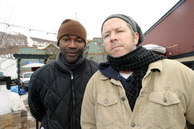 Nelson George and Jim McKay at an event for Everyday People (2004)