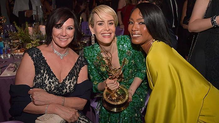 Angela Bassett, Sarah Paulson, and Marcia Clark at The 68th Primetime Emmy Awards (2016)