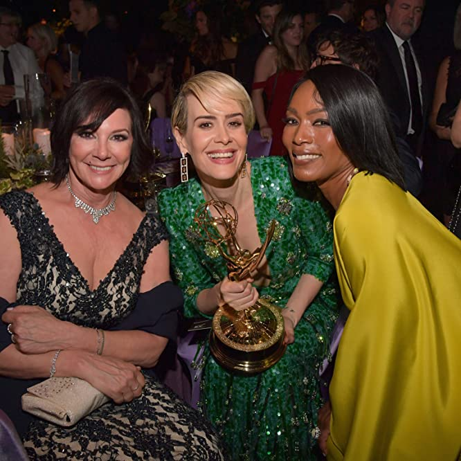 Angela Bassett, Sarah Paulson, and Marcia Clark at an event for The 68th Primetime Emmy Awards (2016)