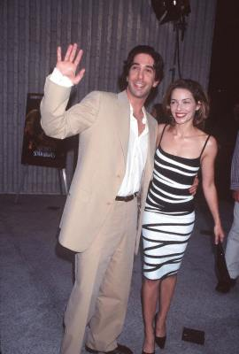 Mili Avital and David Schwimmer at an event for Six Days Seven Nights (1998)