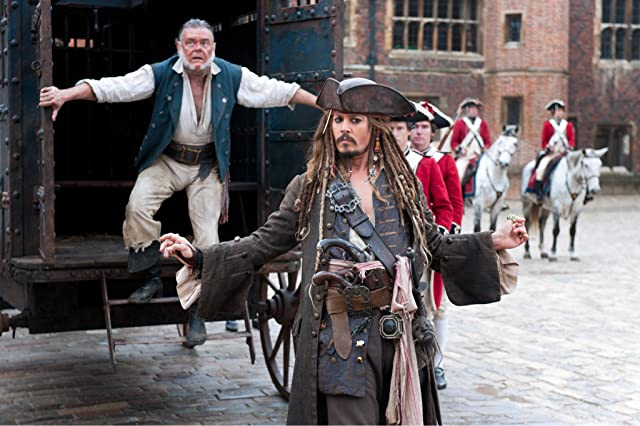 Johnny Depp and Kevin McNally in Pirates of the Caribbean: On Stranger Tides (2011)