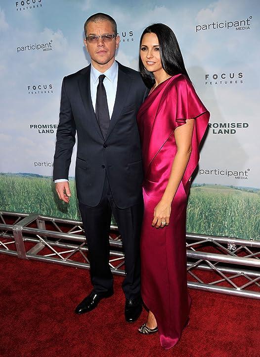 Matt Damon and Luciana Barroso at Promised Land (2012)