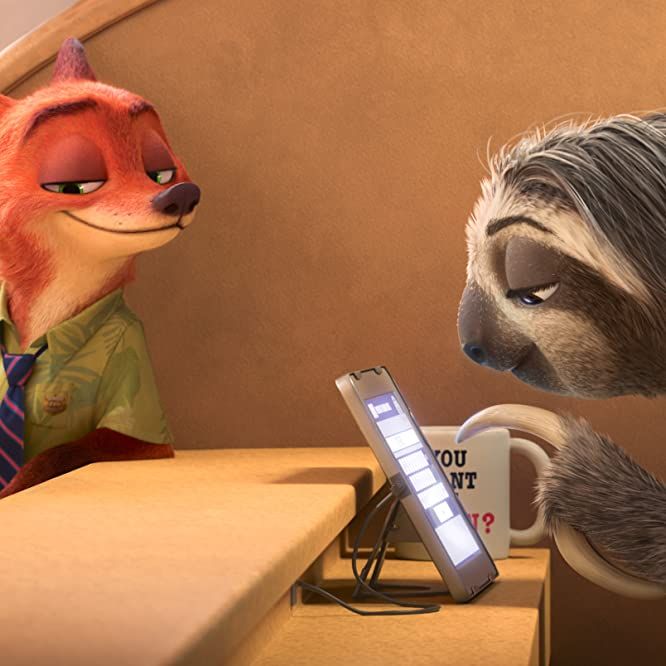 Jason Bateman, Ginnifer Goodwin, and Raymond S. Persi in Zootopia (2016)